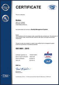 belden certificate